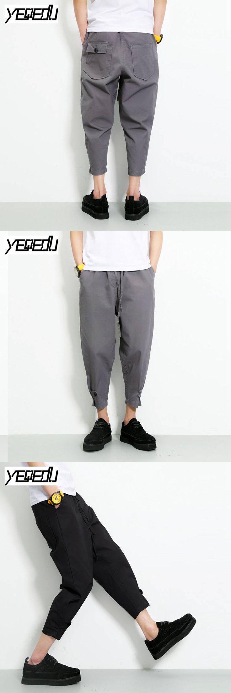 #2819 Jogger pants men Fashion Harajuku Harem Mens baggy cargo pants Loose Pantalon large Hip hop men Streetwear Lightweight 5XL