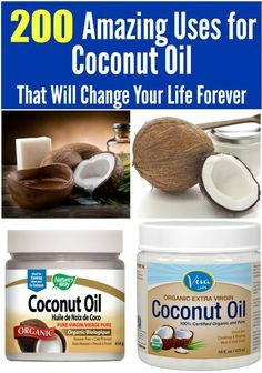 Coconut oil has so many uses: cooking, around the house and beauty routine!