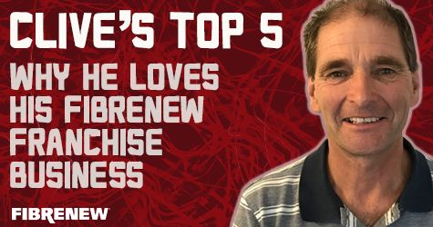 Clive's Top 5: Why He Loves His Fibrenew Franchise Business. Read the interview here! https://www.fibrenew-franchising.com/why-he-loves-fibrenew/