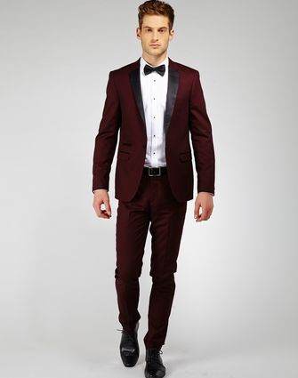 Pinterest the world s catalog of ideas for Black suit burgundy shirt
