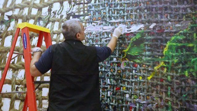 Fabian Marcaccio | Paintant Stories _ making of on Vimeo