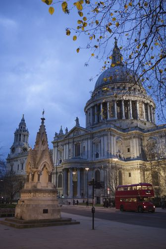 St Paul's Cathedral at dusk, London