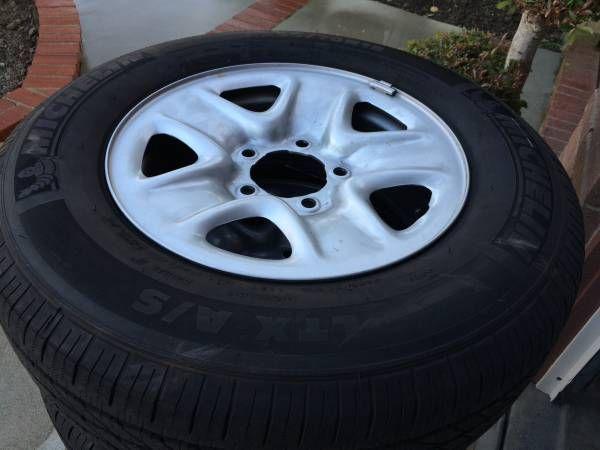 Toyota Thundra Stock Steel Rims & Tires (OC) $500