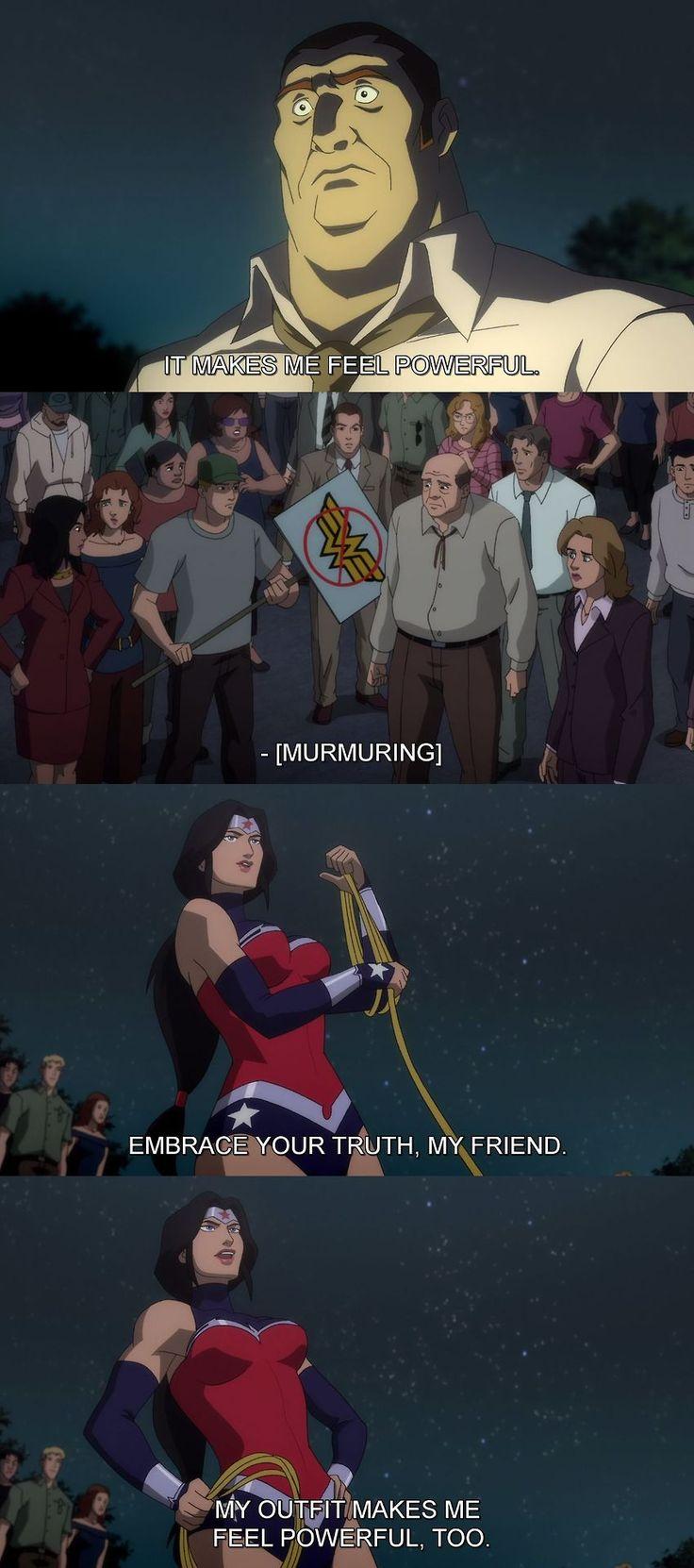 Embrace your truth!      Wonder Woman - Justice League War