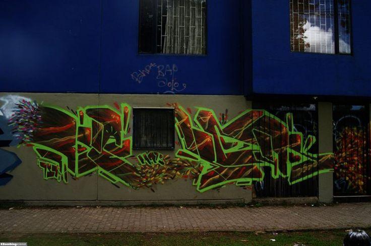 Graffiti Creator:Kacek / Bogotá / Walls Graffiti. Choose your favorite graffiti paintings from our site.