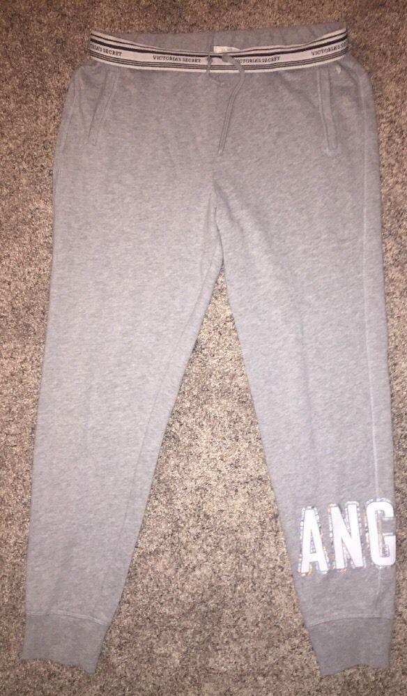 Victoria's Secret Sweatpants Joggers Angel Size Medium Gray  | eBay