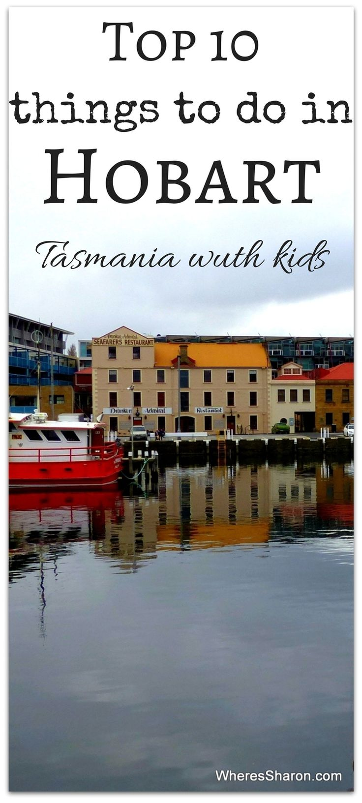This is a beautiful port town.  Our top 10 things to do in Hobart, Tasmania with kids http://www.wheressharon.com/australian-travels/things-to-do-in-tasmania/things-to-do-in-hobart-with-kids/ #familytravel #Tasmania #Hobart