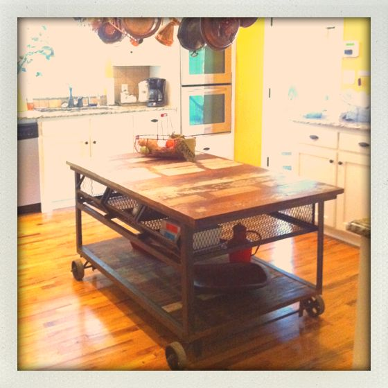My new kitchen island : Wood And Metals