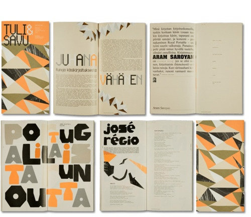 #illustration #poetry #orange #black #grey #layout #design #graphics #book