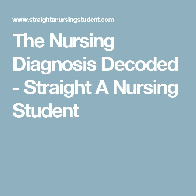 The Nursing Diagnosis Decoded - Straight A Nursing Student