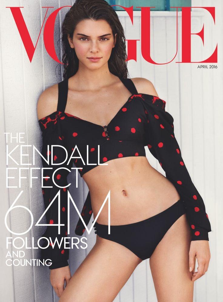 Kendall Jenner protagoniza la nueva portada del mes de abril 2016 de Vogue US. Kendall Jenner vistiendo un top de Proenza Schouler...