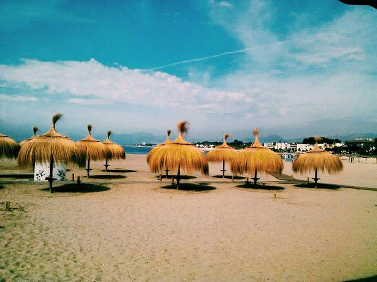 Beach in Cambrils, Spain.