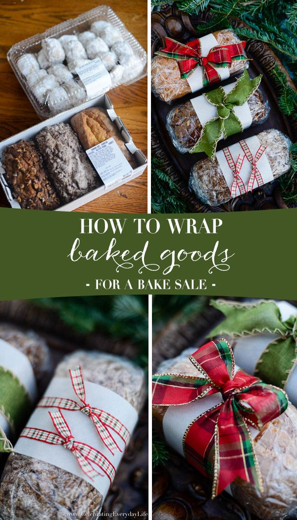 how to wrap baked goods for a bake sale, Christmas Food Gift DIY, Christmas Food gift ideas, Holiday food gift wrap, Christmas food gifts, wrapping Christmas food gifts, Celebrating Everyday Life with Jennifer Carroll