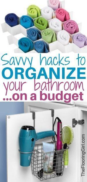 Bathroom Organization Hacks Organize your home Pinterest