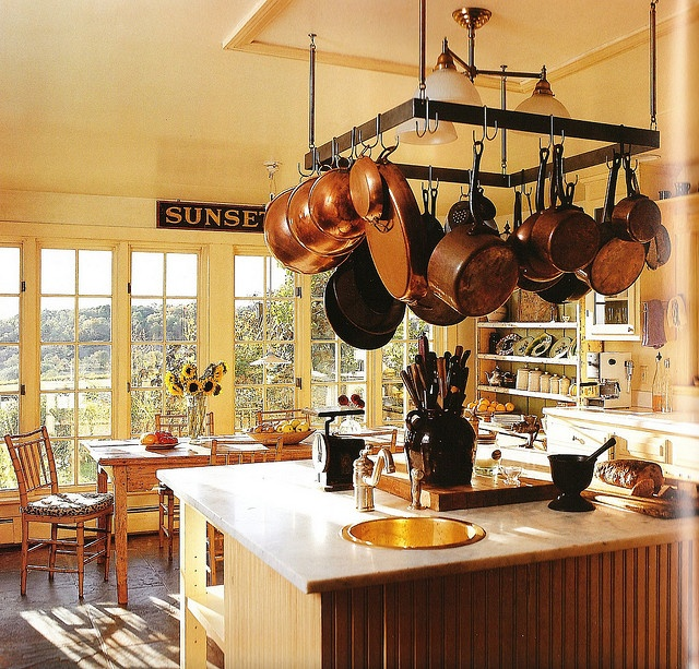 simple french kitchen.