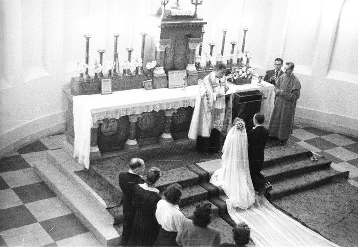 1954 - Haller tér, Szent Vince templom.