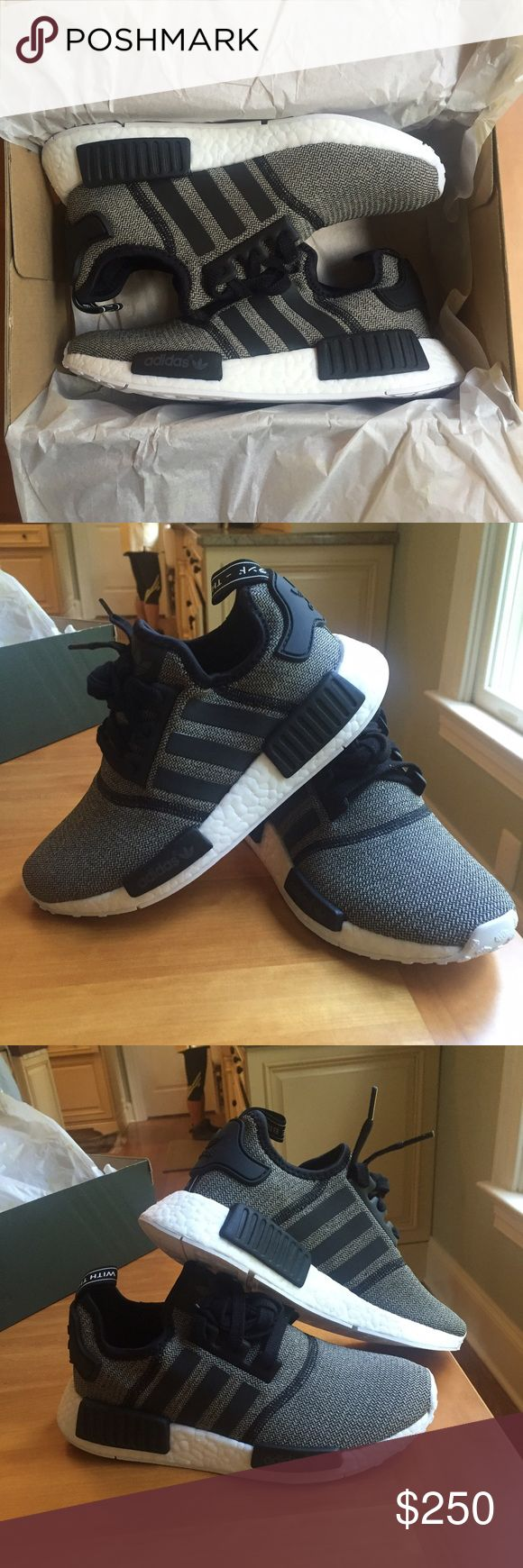 "NEW Adidas NMD R1 ""Reverse Reflective"" Women's 6 Adidas Originals NMD_R1 W Shoes Women's Size 6 / EU Size 37 1/3 Fits like a Women's 6.5/7 Deadstock, New in Box Color is Core Black / Grey SOLD OUT IN STORES Adidas Shoes Sneakers"