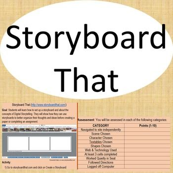 This is a tutorial on how to use Storyboard That. Included is a lesson plan which has a goal, detailed activity directions, and a rubric to be used for assessment purposes. ***************************************************************************You Might Also LikeOnline Tools - Comic Master - Creative WritingOnline Tools - Voki - Animated CharactersConnect with Mrs.