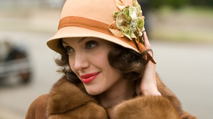 Angelina Jolie in Changeling; movie set in the 1920s.