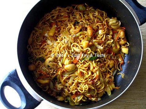 Mie Goreng Seafood dengan Sayuran | Just Try & Taste