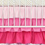 Light Pink Gradient Ruffle Crib Skirt