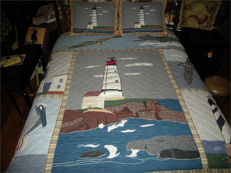 Lighthouse Kitchen Decor | LIGHTHOUSE BY THE BAY QUILTED THROW