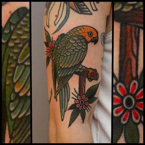 Parrot Tattoo by Tony Nilsson                                                                                                                                                                                 More
