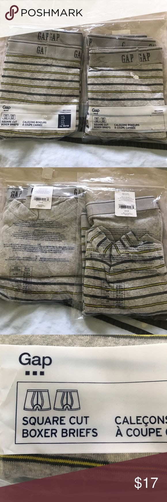 2 GAP men boxer briefs Every pack has 2 pairs so you have 4 pairs for this price GAP Underwear & Socks Boxer Briefs