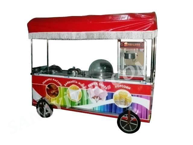 Osmanlı Macunu + Bardakta Mısır + Pamuk Şeker + Popcorn Arabası » - Sanayi tipi
