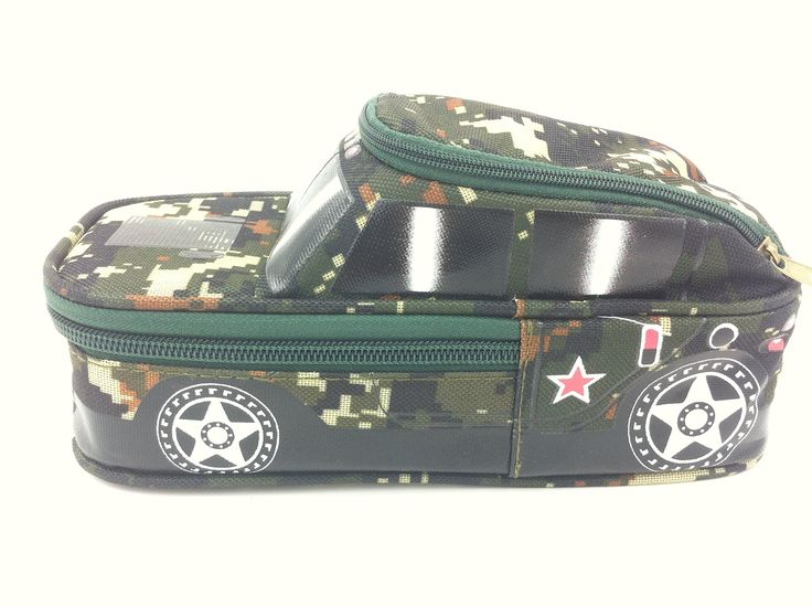 Large Capacity Multilayer Colored Pencil Case (Camo Pen Holder)