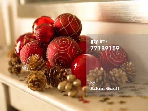 Stock Photo : Christmas ornaments