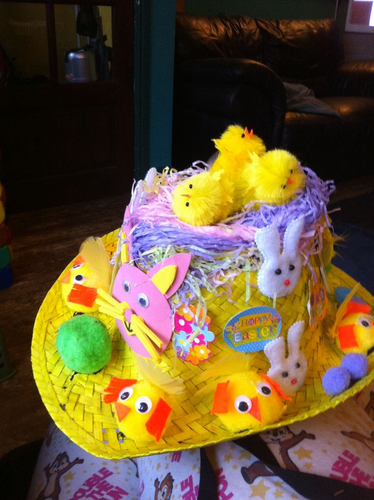 My boys Easter hat