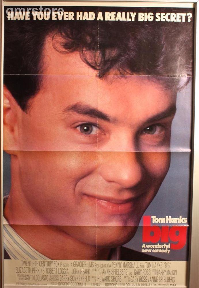 Big Tom Hanks 1980's Movie 27X40 SS Original Movie Poster