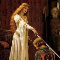 EDAD MEDIA. LEONOR DE AQUITANIA. Leonor de Aquitania (en francés: Aliénor d'Aquitaine o Éléonore de Guyenne; en inglés: Eleanor of Aquitaine) (1122 - 1204), Noble medieval francesa miembro de la casa de Poitiers. Por matrimonio fue reina consorte de Francia (1137-1152) y luego reina consorte de Inglaterra (1154-1189). Al casarse con el rey de Inglaterra Enrique II de Inglaterra, unió sus vastos dominios en Francia a los que poseía el heredero al trono inglés, formando el Imperio Angevino.