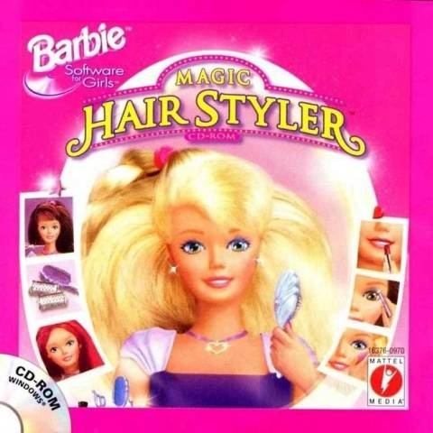 omgomgomg best computer game in the world. barbie magic hair styler