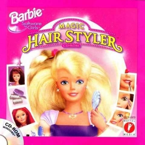 omgomgomg best computer game in the world. barbie magic hair styler