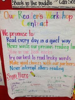 Readers' Workshop Contract and lots of other great charts!