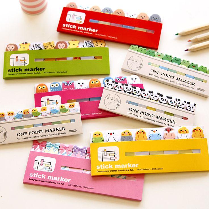 가와이이 일본어 포스트 스크랩북 스크랩북 스티커 스티커 메모 학교 사무실 문구 용품 페이지 플래그 아이
