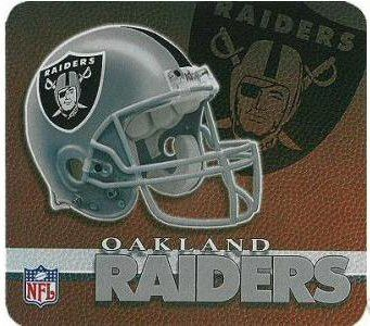 Oakland Raiders Pigskin Mouse Pad | #Oakland #California #Raiders #OaklandRaiders #Memorabilia #Sports #Merchandise #Football #NFL | Order Today At www.sportsnutemporium For Only $7.75