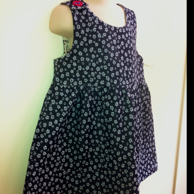 Flower pattern denim dress by Nedi $35 size 1 - 3, or can be made to order