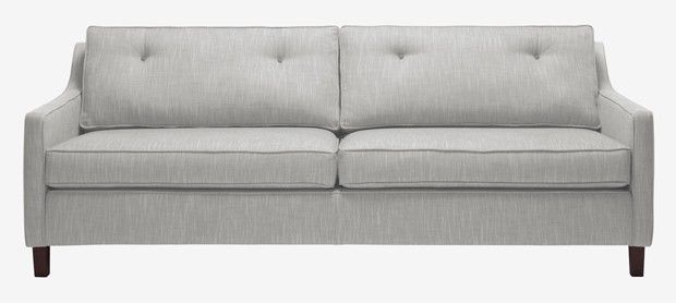 Fancy Nancy large sofa with fixed covers in House Brushed Cotton grey