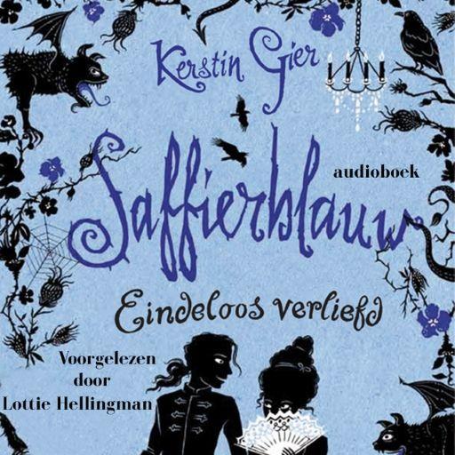 Saffierblauw | Kerstin Gier: Hilarisch tijdreisverhaal over de sympathieke Gwendolyn, de arrogante Gideon, de grappige waterspuwersgeest…