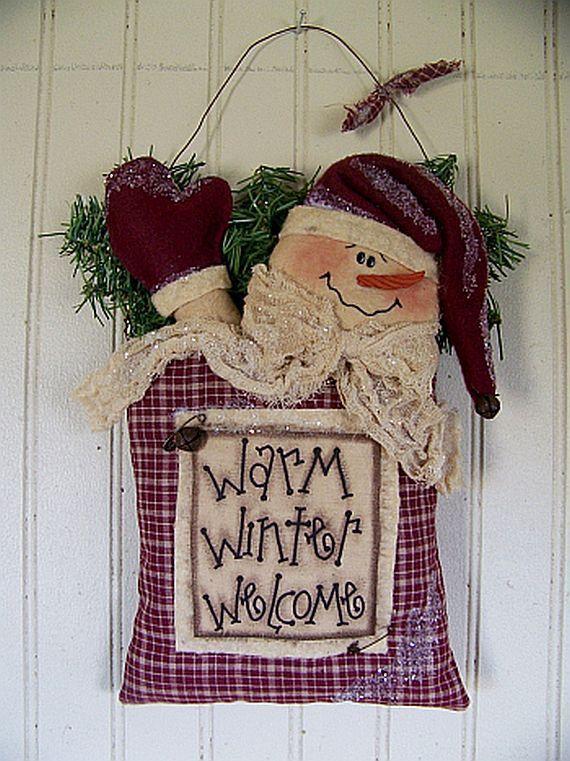 Primitive Hanging Warm Winter Welcome by CherylsPrimkeepsakes