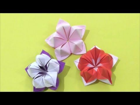 Easy Origami how to Make Flower 简单手工折纸 花 簡単折り紙 花です, My Crafts and DIY