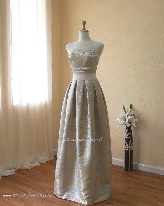 Plus Size. Dahlia  Vintage Style Strapless Bridal by EllanaCouture, $450.00