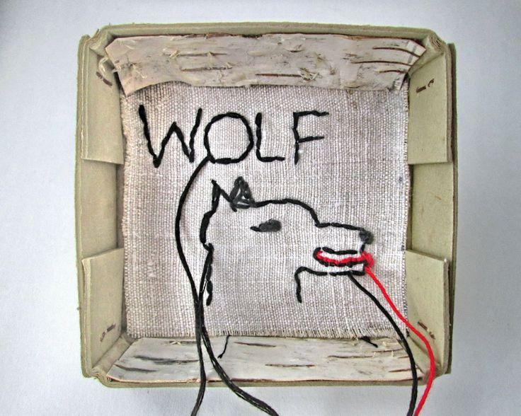 mano kellner, art box nr 340, wolf 1  - sold -