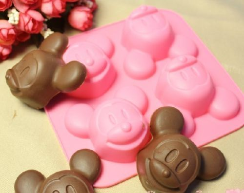 Free Shipping Mickey Mouse Shape Silicone Cake Mold ICE Candy Muffin Making Tool | eBay