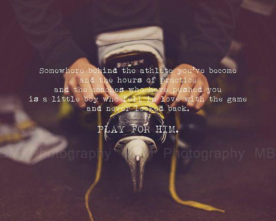 Play for Him Hockey Print 8x10 by SportyPrintsbyMBM on Etsy