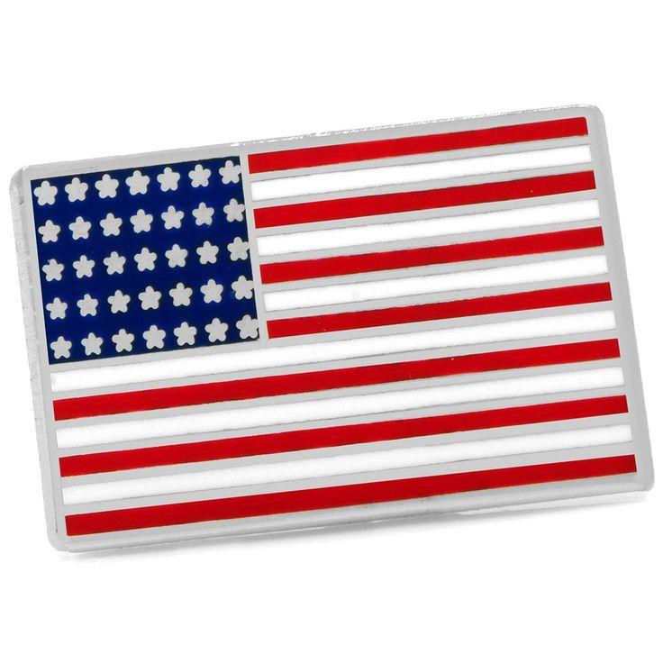 American Flag Lapel Pin, Men's, Red