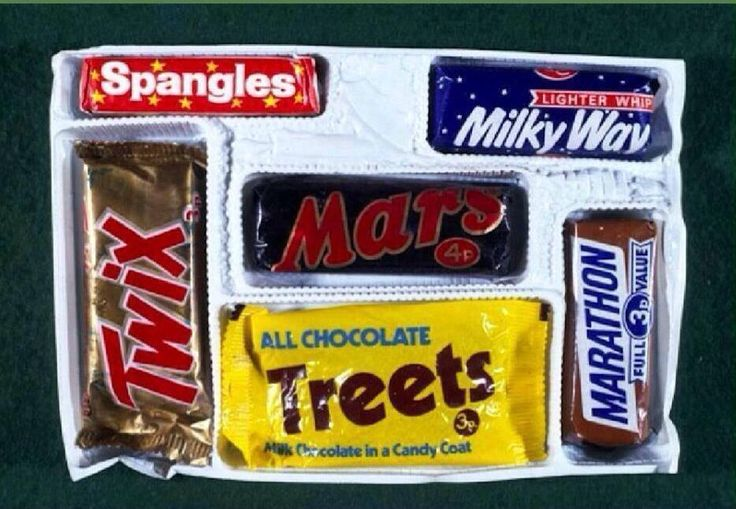 Can you remember when your Christmas selection box looked like this?